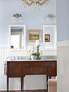 Bathroom Vanity Lighting Fixtures Start your day on the right foot with a beautiful light above your bathroom vanity. These hardworking fixtures cast the right light on your face and provide a pretty decorative element to a room filled with hard surfaces.