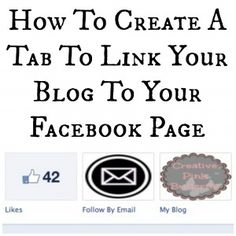 How To Create A Tab To Link Your Blog To Your Facebook Page