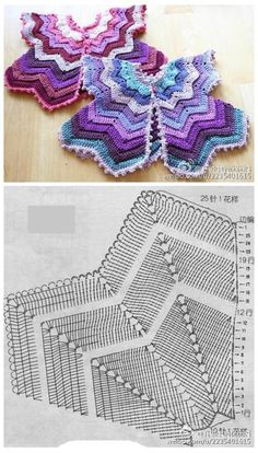 Crochet Rug Patterns Ripple Afghan Trendy Ideas - Her Crochet Crochet Baby Cardigan, Crochet Cape, Crochet Shawl, Diy Crochet, Crochet Ideas, Crochet Rug Patterns, Crochet Stitches, Baby Dress Patterns, Crochet Baby Costumes