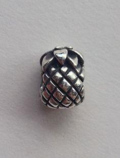 Authentic PANDORA bracelet charm PINEAPPLE 790363 sterling silver EXCELLENT EUC