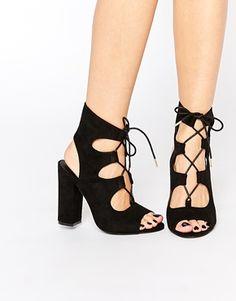 Sandalias de tacón grueso Ghillie de New Look