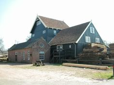 First, the saw mill was driven by the wind. Later yielded by a steam energy.
