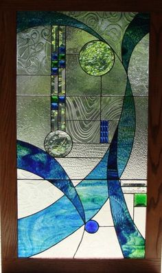 Beautiful use of various textured clear glass.