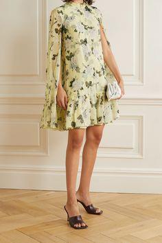 Dresses For Sale, Summer Dresses, Mini Dresses, Pink Maxi, Next Clothes, Pastel Yellow, Erdem, Floral Chiffon, Models