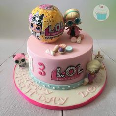 Doll lol cake 43 ideas for 2019 Doll Birthday Cake, Funny Birthday Cakes, 6th Birthday Parties, Birthday Ideas, 8th Birthday, Lol Doll Cake, Surprise Cake, Doll Party, Cake Board