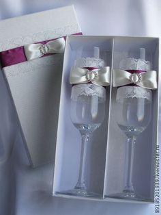 Свадебные бокалы в подарочной упаковке - свадьба,подарок,подарок на свадьбу