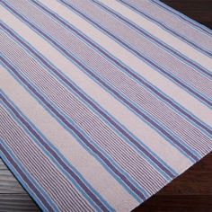 Farmhouse Stripes Navy/Blue Area Rug