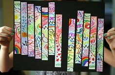 Draw, Cut, and Collage an Abstract Art Project - Make and Takes