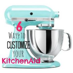 6 Ways to Customize Your KitchenAid Mixer… Includes a link to template pattern to sew a cool cover for your mixer.