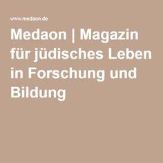 Medaon | Magazin für jüdisches Leben in Forschung und Bildung