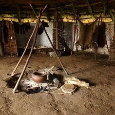 hier zie een binnenkant van een huis van de boeren