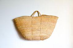 French Basket-straw bag-Beach Bag-straw-Big Basket-French Market Basket-Beach Bag-storage basket