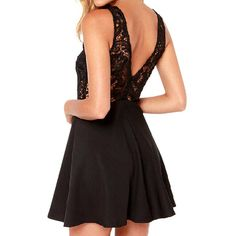 Sexy Sleeveless Lace V Back Party Dress