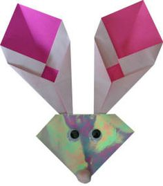 origami bunny -- I'll have to try this!