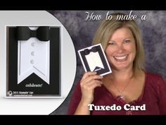 How to make a Black Tie Tuxedo Card for New Years and other Events featuring Stampin Up - YouTube