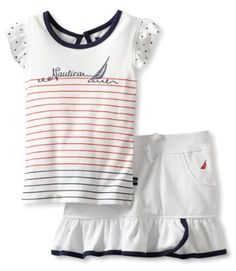 Nautica Girls 2-6X 2 Piece Flutter Set $24.19, get it now at http://ilovebabyclothes.com/?page_id=668