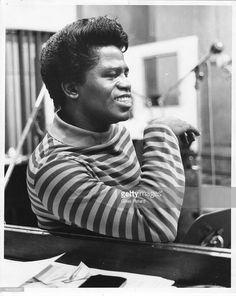 James Brown in the studio at the 'It's a Man's Man's Man's World' recording session, portrait, USA, 1966.
