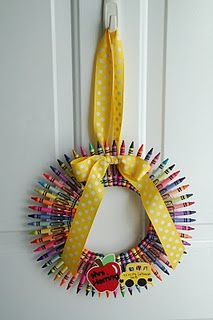 I love this wreath for a classroom.