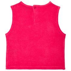 Chicas T-Shirt Liso - Top sin mangas en tejido terry liso para niña, Shocking pink back