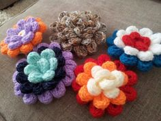 My knitting nancy rosettes