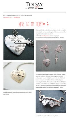 99e3efdcb The cutest necklaces to express your love! Cute Necklace, Couple Stuff,  Jewelry Crafts
