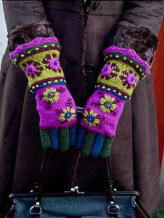 Bloomsbury Gauntlet (The library has the book with the pattern: Color By Kristin: How to Design Your Own Beautiful Knits)