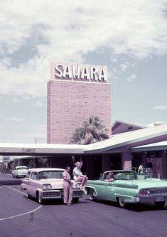 Vintage Las Vegas - The Sahara Hotel and Casino in a 1958 publicity photo. Vegas Casino, Las Vegas Strip, Las Vegas Nevada, Cities, Las Vegas Photos, Automobile, Us Cars, Historical Photos, Old Photos