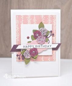 Happy Birthday Gorgeous, Flourish thinlits, Stamping Up
