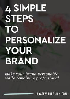 Do you represent your brand? It can be hard to make your business or brand personal. This blog post will teach you how to personalize your brand identity and business. Save it for later!