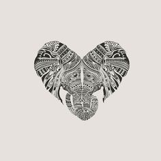 Huge Heart Art Print by Huebucket - X-Small Elephant Tatoo, Elephant Love, Elephant Art, Elephant Design, Elephant Keychain, Mandala Elephant, Et Tattoo, Tattoo Und Piercing, Yakuza Tattoo
