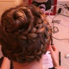Normal french braid:)