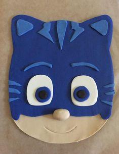 "catboy t-shirt sew ""my son's"" stitch Pj Masks Birthday Cake, 4th Birthday Cakes, Pj Mask Cupcakes, Pjmask Party, Sully Cake, Festa Pj Masks, Cake Kit, Fondant Decorations, Fondant Figures"