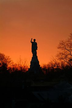 Forefather Monument at sunset, Plymouth #Travel