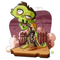 Behance :: For You Monster Illustration, Halloween Illustration, Illustration Art, Illustrations, Character Modeling, Character Art, Character Design, Zombie Art, Horror Monsters