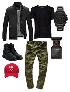 """Men's casual"" by lilciz ❤ liked on Polyvore featuring G-Star Raw, Valentino, Michael Kors, Tom Ford, T By Alexander Wang, men's fashion and menswear"