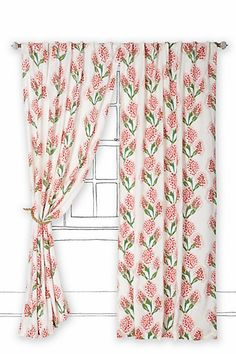 Speckled Blooms Curtain #anthropologie  Lovely curtains to go with my dream bedroom. #Anthropologie #PinToWin