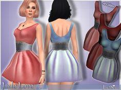 Jade Love Dress by JavaSims at TSR • Sims 4 Updates