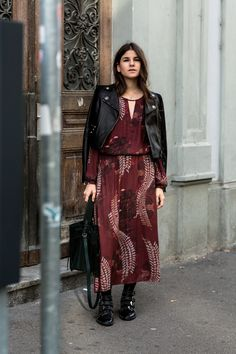 How to style a maxi dress for autumn › thefashionfraction.com