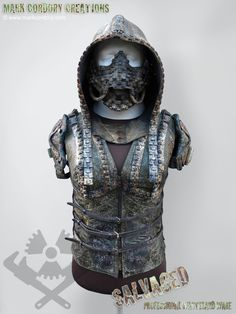 Post Apocalyptic costume made for Airsoft LARP. The hood is made from rubber sheeting, the rest from an old army poncho. SALVAGED Ware enquiries welcome @ www.markcordory.com