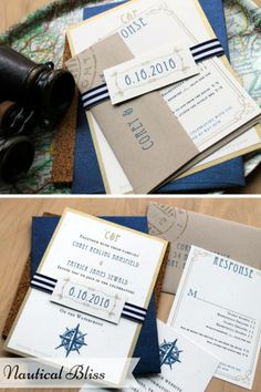Beacon Lane Wedding Stationery -  Nautical bliss