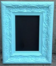 Vintage Style Aqua Blue Tiffany Blue Turquoise Teal Sky Blue Light Frames Ornate Table Number Signs Picture Photo Wedding Custom Color. $12.00, via Etsy.
