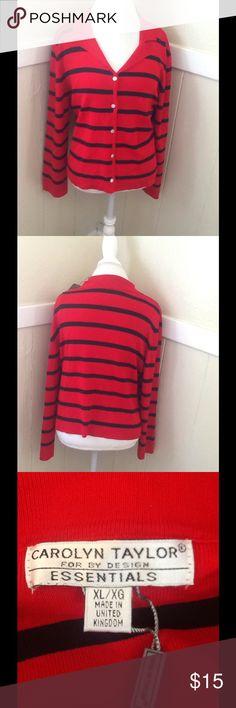 Sweater Carolyn Taylor Sweater Carolyn Taylor red and black new carolyn taylor Sweaters Cardigans