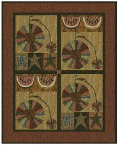 Bicycles, Watermelons & Stars Quilt Pattern by Jan Patek Quilts Inc. by Jan Patek