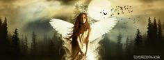 splendid fantasy white dressed angel glittering stars stunning white cloths and golden hair cool facebook timeline banners. cool white angerl facebook timeline fantasy cover