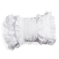 Coussin en coton blanc 35 x 50 cm GARANCE