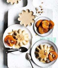 Honey and Almond-Milk Blancmange with Honey-Roasted Apricots | Gourmet Traveller