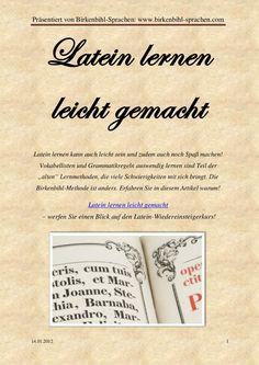 latein-lernen-leicht-gemacht by Birkenbihl Approach via Slideshare