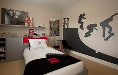 Skateboarder room. I have a feeling max will love this in a couple of years