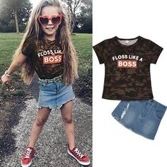 Perfect for your little girl. Easy to wear and can be used casually. Cotton and polyester blend materials make the fabric comfortable and smooth for kids' sensitive skin. Spring Outfits, Girl Outfits, Spring Clothes, Girl Sleeves, Lucky Girl, Baby Shop, Cool Baby Stuff, Girl Model, Baby Wearing