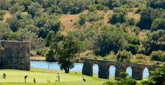 Portugal still has to be my European #1 golfing destination, and on my recent trip to Lisbon and the Algarve I was reminded again why. | Photo: The par 5 6th at Penha Longa with the Roman Aqueduct down the right hand side as you apporach the green